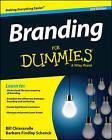 Branding For Dummies by Bill Chiaravalle, Barbara Findlay Schenck (Paperback, 2015)