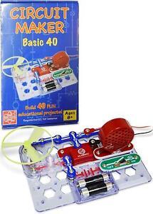elenco snap circuits cm 40 circuit maker 43 basic electronicsimage is loading elenco snap circuits cm 40 circuit maker 43