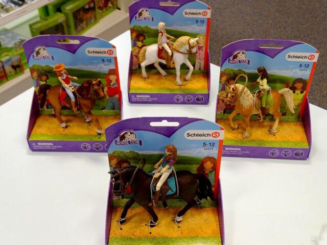 4 X Schleich Pferde Und Reiter Horse Club Günstig Kaufen Ebay