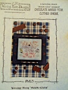 Waxing-Moon-Designs-Counted-Cross-Stitch-Charts-Lot-of-2-Chocolate-and-Fudge