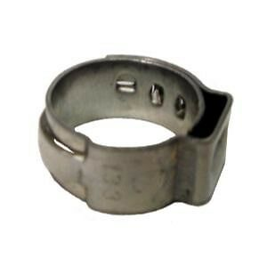 """size .602/"""" 100pc Stainless Steel Hose Repair Pinch Clamps 23//32/"""" #HC8632-100"""