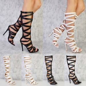 Mid Calf Knee High T-Strap Strappy