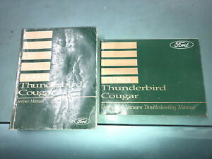 93 Ford Thunderbird T Bird Cougar Service Manual Set Electrical Wiring Diagrams Ebay