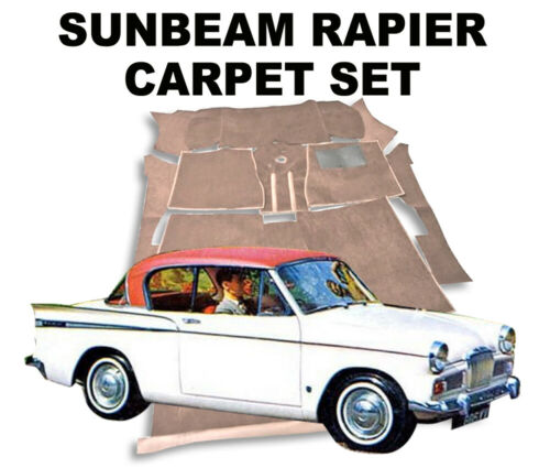 Latex soutenu Superior Deep pieu Sunbeam Rapière Tapis Set S1-II-III-IV