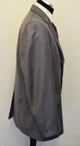 L32 2pc Grey Del 5 42 Chest Men's W36 Ms629 Suit Crispo 64zpIx1