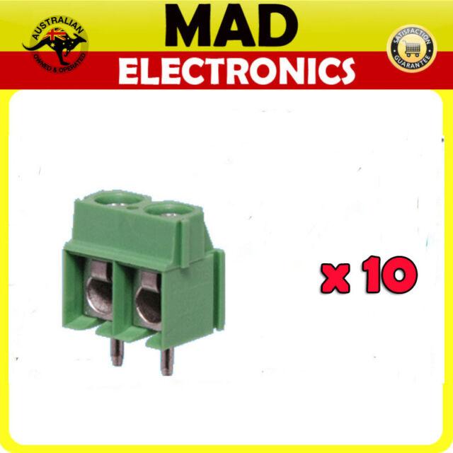 10 Lot x 2 Way 3.5mm Mini PCB Mount Terminal Block