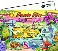 Puerto Rico Map Caribbean Collectible Souvenir Playing Cards