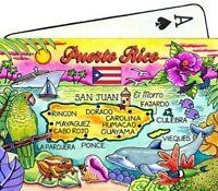 Puerto Rico Map Caribbean Collectible Souvenir Playing Cards
