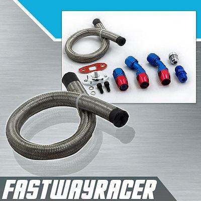 T3 T4 T3/T4 T04E T66 T67 T70 GT45 GT30 Turbo Oil Drain Line Kit Oil Return Line