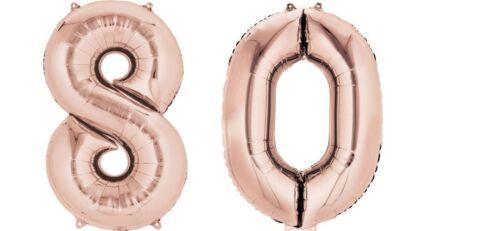 "Número de Lámina Gigante 40/"" Pulgadas Auto Inflar Globos Cumpleaños Edad Fiesta Boda"