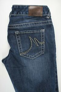 Maurices Flare Distressed Stretch Womens Jeans Sz 3/4 Reg