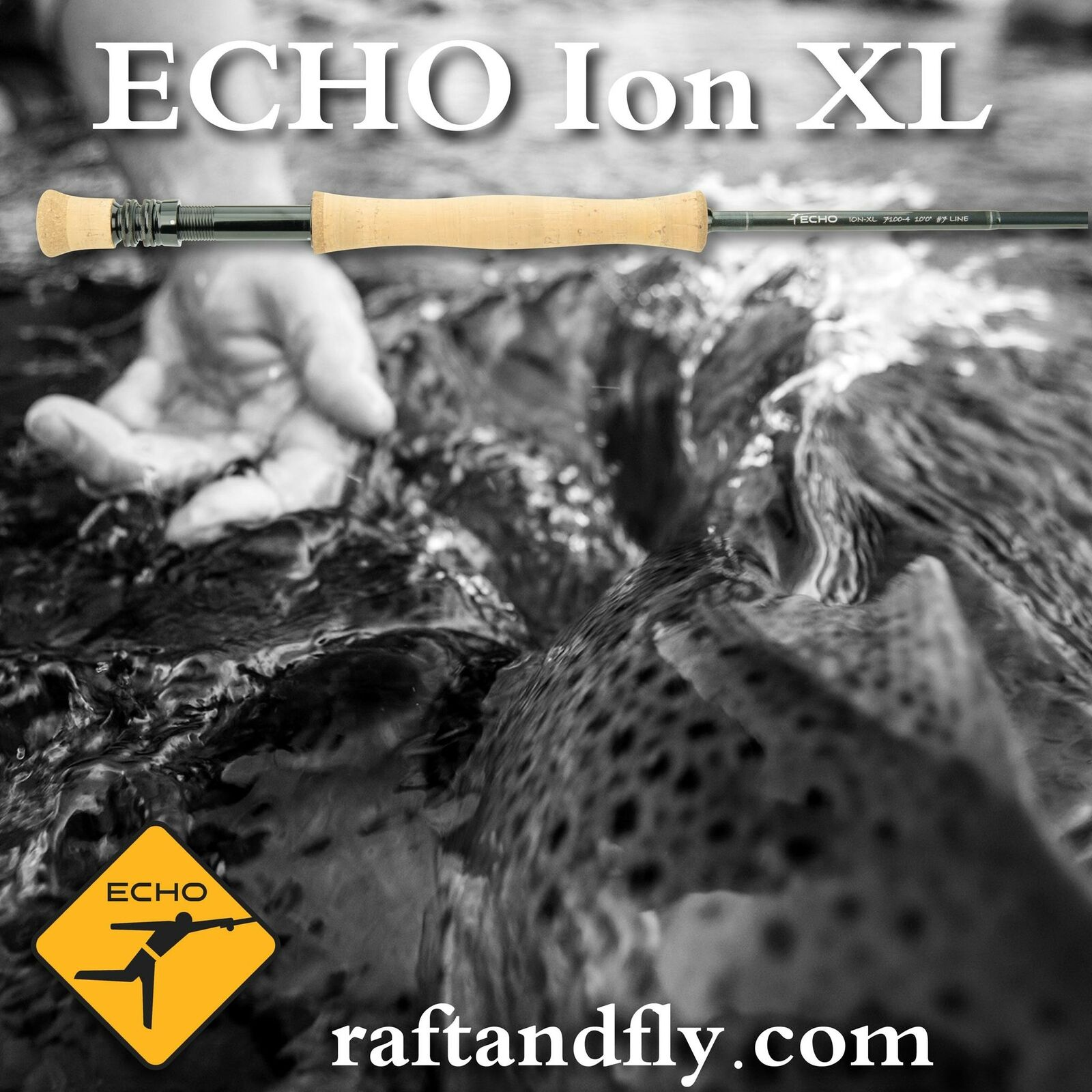 Echo Ion XL 7wt 10'0  Fly Rod - Lifetime Warranty - Free Shipping