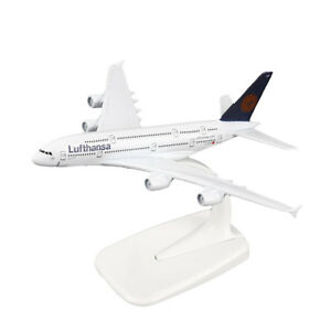1-400-16cm-A380-Lufthansa-Airline-Diecast-Toy-Models-Aircraft-Aeroplane-Plane