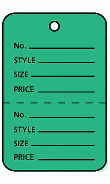 """3000 Perforated Tags Price Sale Large 1 ¾/"""" x 2 ⅞"""" Two Part Yellow Unstrung"""