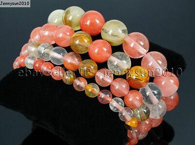 Handmade 6mm Mixed Natural Gemstone Round Beads Stretchy Bracelet Healing Reiki