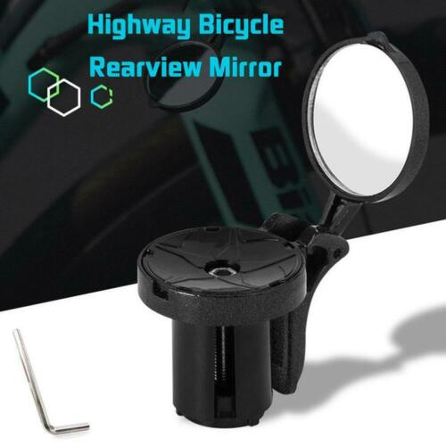 Bike Bicycle Cycling Rear View Safety Mirror Bar End Handbar Road Black T1E P0L3