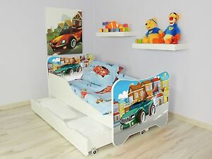 Children-Bed-Junior-Toddler-Bed-For-Kids-with-mattress-160cm-drawer-Pillow