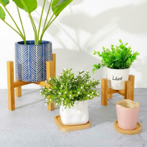 Garden Planter Holder Display Organiser Wooden Plant Stand Flower Pot Shelf Rack