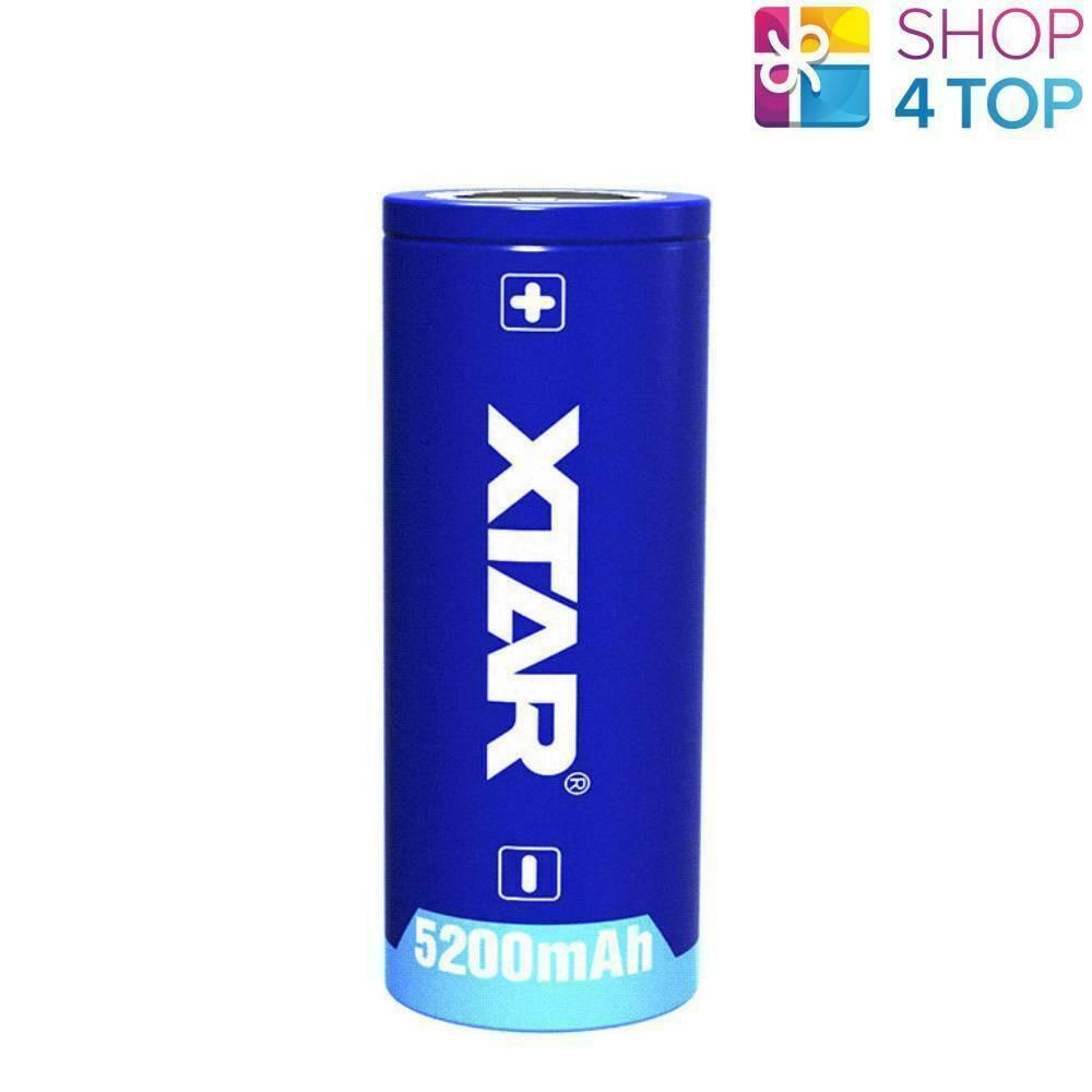 XTAR 26650 PROTECTED BATTERIEN RECHARGEABLE 3.6V LI-ION LITHIUM 5200 mAh NEU