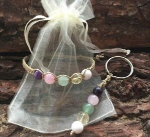 ANXIETY-DEPRESSION-HEALING-GEMSTONE-BRACELET-KEYRING-BAG-CHARM-CRYSTAL-GIFT