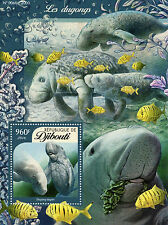 Djibouti 2016 MNH Dugongs 1v S/S Marine Mammals Dugong