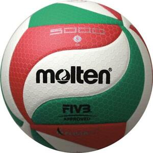 Molten Volley DVV 1 FIVB Approved wettspielball Blanc/Vert/Rouge v5m5000 Taille 5