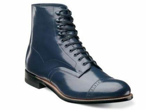 Stacy Adams Men's Madison Cap Toe Boot Navy 00015-410