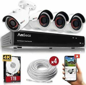 AmSecu-4K-4CH-Smart-Security-Camera-System-w-4-x-4K-8MP-3-6mm-Bullet-Cameras