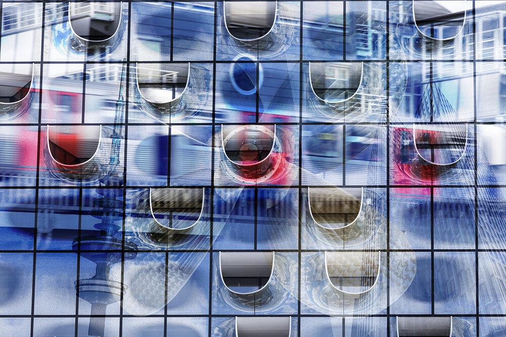 Fototapete Hamburg Collage Fotocollage - Kleistertapete oder Selbstklebende