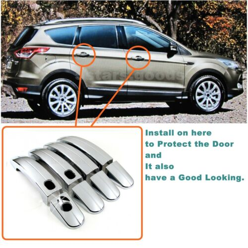 Bowl Covers For 2013-2018 Ford Escape SUV Accessories Chrome Smart Door Handle