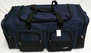 "35"" NAVY BLUE TRAVEL, GYM, LUGGAGE BAG"
