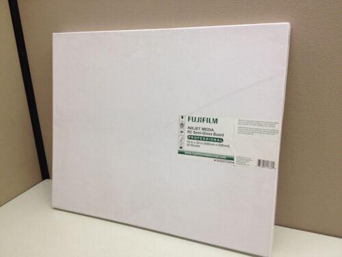 Fujifilm Inkjet RC Semi-Gloss Photo Board 16x20 Epson Stylus Pro 600007244 20//pk
