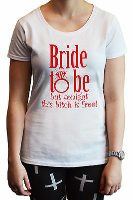 """""""Bride to Be"""" Funny Ladies Women's T-Shirt Hen Night Party Gift Wedding Marriage"""