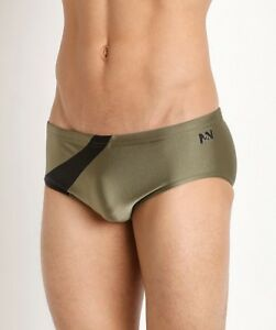 3604bcff41 N2N Men's Eclipse Olive Trunk Swimsuit Nylon/Spandex Unlined Size XL ...