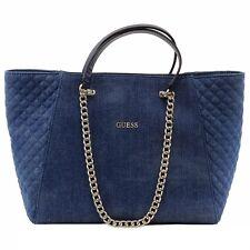 Guess Women's Nikki Denim Chain Tote Handbag