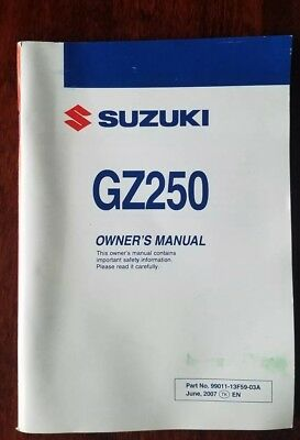 Suzuki Owners Manual 2007 TL1000S 99011-02F51-03A