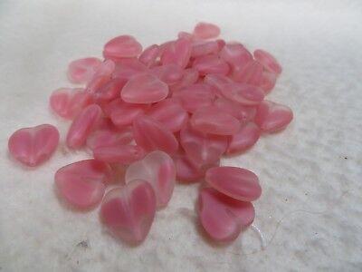 Navy//Black 10 15 x 15 mm Czech Glass Window Heart Beads
