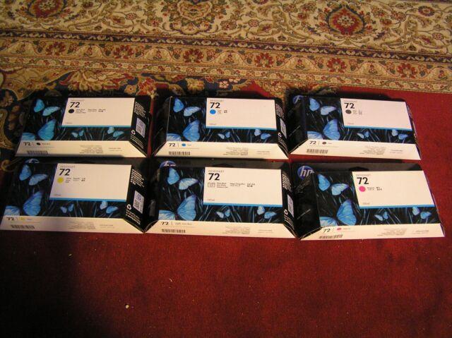 Genuine HP 72 ink cartridges full set C9370A C9371A C9372A C9373A C9374A C9403