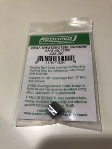 Redding-Heat-Treated-Steel-Neck-Sizing-Bushing-290-Part-Number-73290-Brand-New