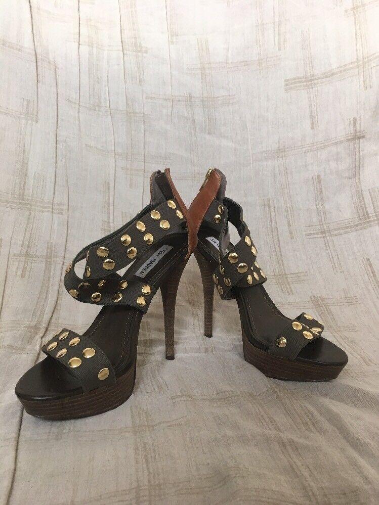 Steve Madden vert et Or talon, Femme chaussures, Taille 9.5 M