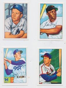 1952-Bowman-BASEBALL125-cards-Reprints-MICKEY-MANTLE-STAN-MUSIAL-Willie-MAYS