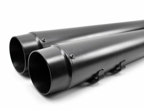 "4.5/"" Black Megaphone Slip-On Mufflers Exhaust Pipes 2017-2020 Harley Touring"