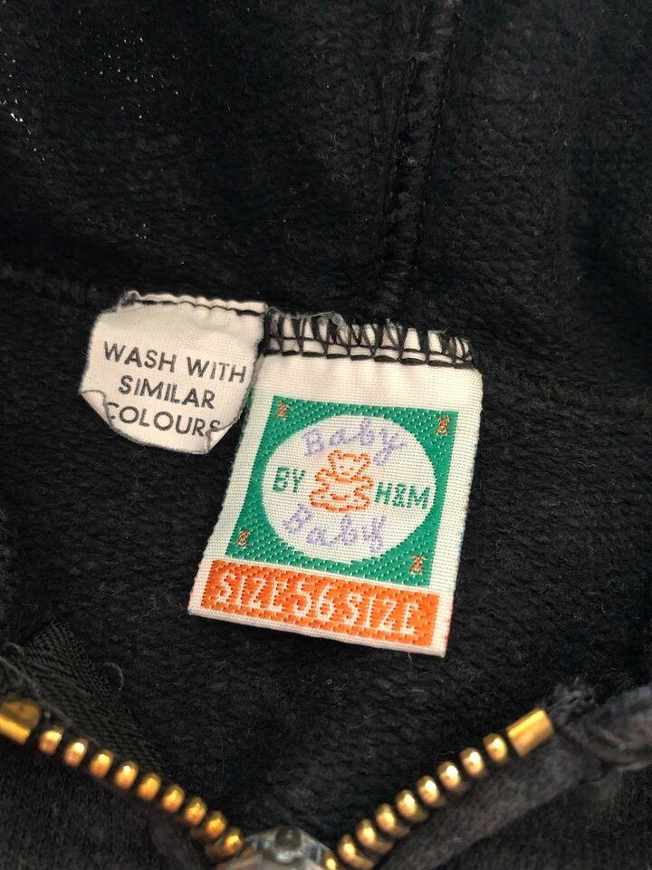 Hættetrøje, Sort hættetrøje med lynlås , Baby by H&M