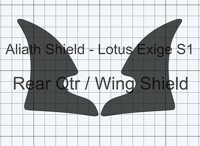 Lotus Elise S3 rear qtr CLEAR Stone Chip guard Protection Decals foils film