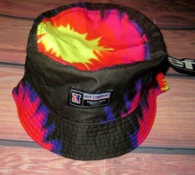 New Neff Tie Dye Black Mens Cap Bucket Hat
