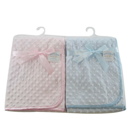 BABIES BUBBLE BLANKET NEW  WHITE CREAM BLUE PINK MOSES BASKET BOY GIRL PRAM
