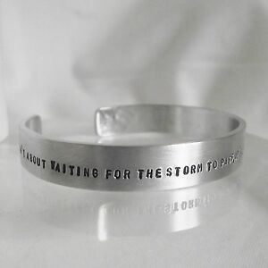 Statement-Cuff-Bangle-Lovely-Handmade-Personalised-034-DANCE-in-the-rain-034