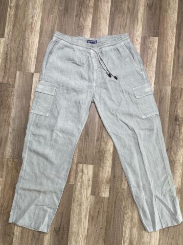 Authentic Vilebrequin 100% Linen Pants for Men Gra