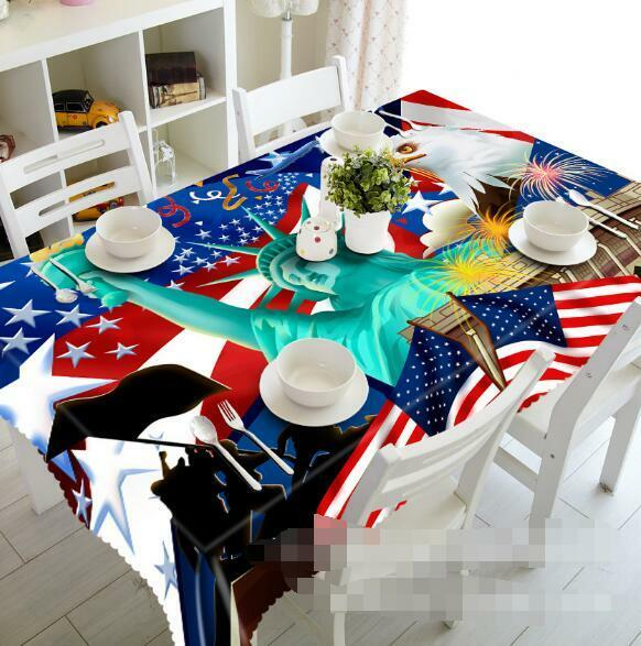 3D Statue Liberty Tablecloth Table Cover Cloth Birthday Party Event AJ WALLPAPER