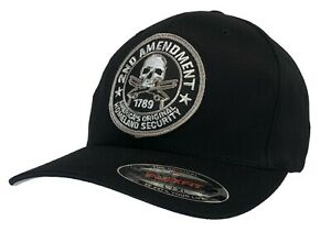 Washed Camo Hot Leathers Mens 2nd Amendment Homeland Security Ball Cap